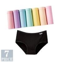 7PCS Panties for Women Girls Underwear Cotton Panties Cueca Calcinhas Sexy Lingerie Breathable Briefs Female Plus Size Pantys 1