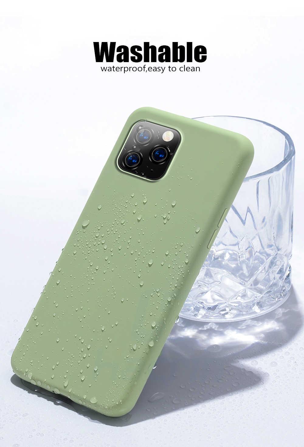 حافظة من yezaoo لهاتف apple iphone 11 pro max حافظة حماية ناعمة من السيليكون السائل لهاتف iphone x xs max xr 7 8 6 6S Plus 10