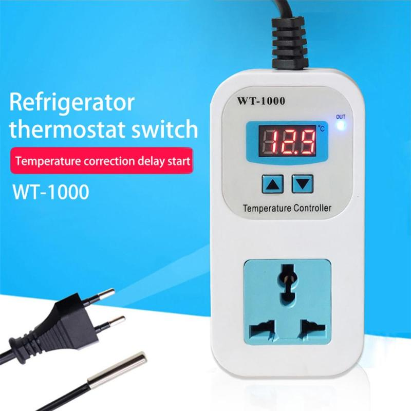 Digital Thermostat Regulator Temperature Controller Microcomputer Socket Outlet All Parameter Settings Save After Short Circuit