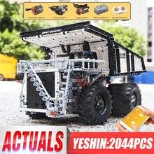 حفارة تعدين Yeshin 13170 تكنيك متوافقة مع 29699 ليبهر تيريكس T284 شاحنة قلابة نموذج سيارة مكعبات بناء