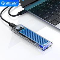 ORICO M2 SSD caso NVME SSD carcasa M.2 USB a USB tipo C transparente carcasa de disco duro para NVME PCIE NGFF SATA M/B/clave SSD disco