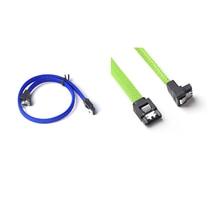 2 шт 50 см SATA 3,0 III SATA3 7Pin кабель для передачи данных 6 ГБ/сек. SSD Кабели HDD жесткий диск шнур для передачи данных с нейлоновыми рукавами премиум версия, синий