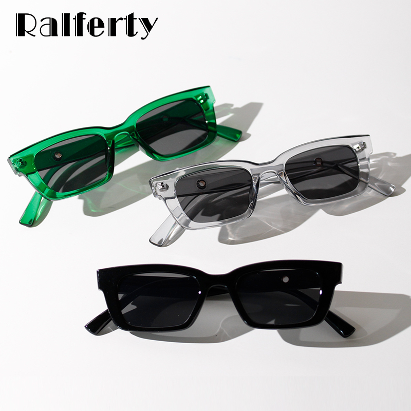 Ralferty Vintage Sonnenbrille Frauen Kleine Rahmen Rechteck Sonnenbrille Frau Retro Shades 2020 oculos feminino de sol W20236