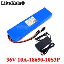 LiitoKala – batterie lithium-ion 36V 10ah 600watt 10S3P avec BMS 20a pour xiaomi mijia m365 pro, prise XT60 T
