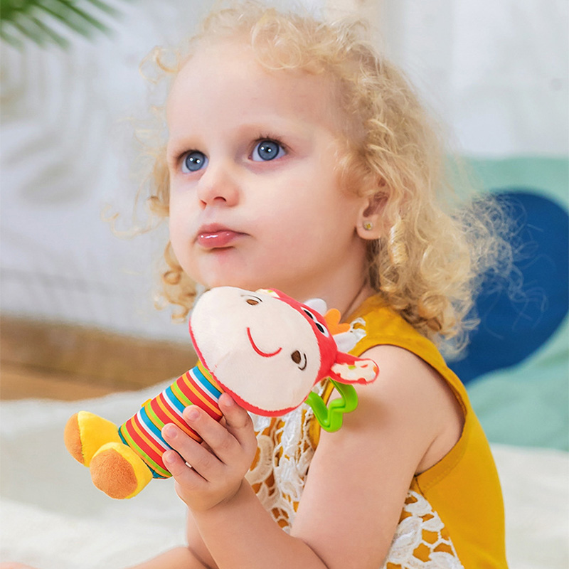 Cute Infant Baby Bell Rattles Toy Children Musical Educational Toy Color Random