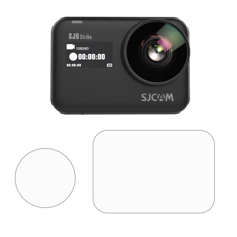 LCD Diaplay Screen Protective Film Lens Glass Protector Protection Cover For SJCAM Series SJ9 Strike/ Max 4K Action Sport Camera