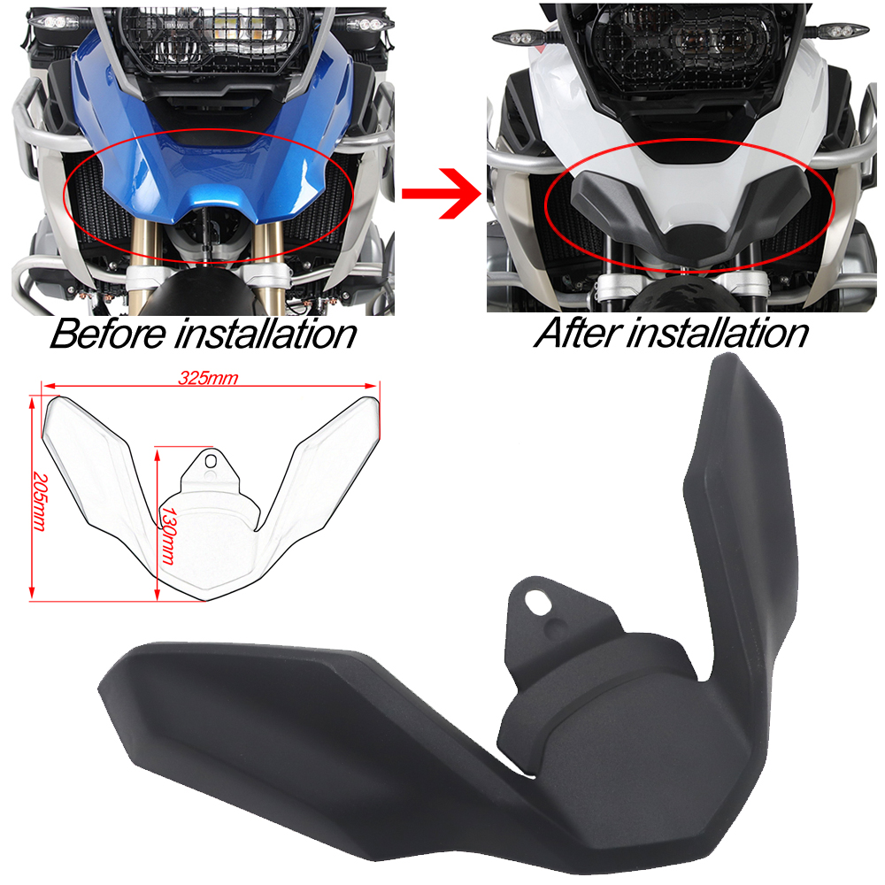 Front Wheel Fender Cover Beak Nose Cone Extension Cowl Carbon For BMW R1200GS LC R1250GS R 1200 1250 GS K50 2017 2018 2019 2020