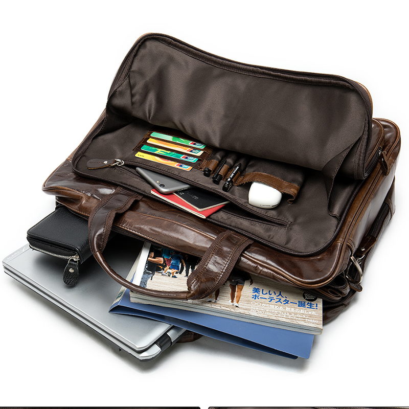 briefcases mans bag leather genuine briefcase men leather <font><b>laptop</b></font> bag men business mens briefcase 15 <font><b>inch</b></font> pasta masculina 9205 image