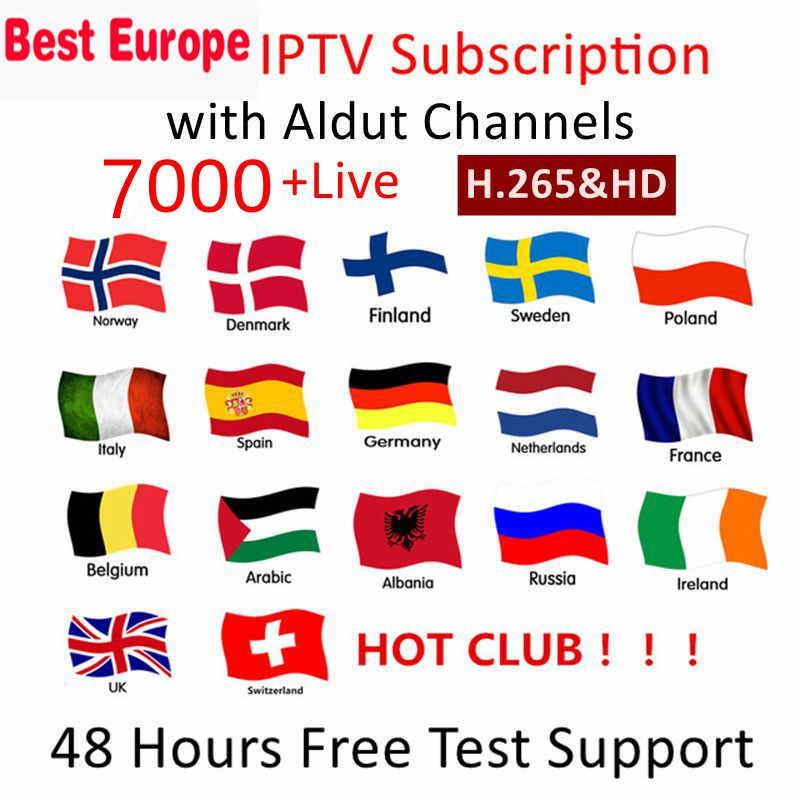 Europe IPTV France royaume-uni allemand arabe belgique suède français pologne espagne états-unis Canada néerlandais smart TV Box IPTV M3U 7500 + Live