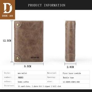 Image 3 - DIDE marka inek derisi erkek cüzdan erkek çanta kısa hakiki deri fermuar bozuk para cüzdanı cüzdan kart tutucu güzel hediye kutusu