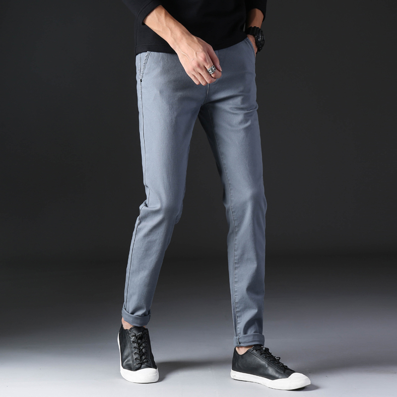 KSTUN 2020 Spring Summer New Casual Pants Men Cotton Slim Fit Chinos Fashion Trousers Male Brand Clothing Basic Mens Pants 21
