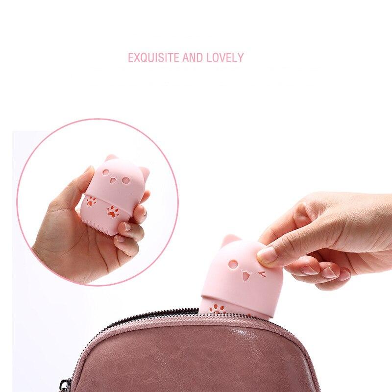 Hc2feda239f5948f3b1fd44c473ffa6342 1PC Beauty Powder Puff Blender Holder Sponge Makeup Egg Drying Case Portable Soft Silicone Cosmetic Blender Sponge Box Holder