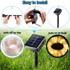LED Solar Garden Lights Rope String Lights Outdoor Solar Powered Strip Christmas Fairy Light Party Decoration  Lamp Waterproof promo