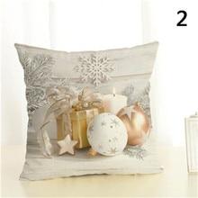 Квадратный чехол для подушки, рождественский подарок, узор, чехол для подушки, Рождественский, домашний, декоративный