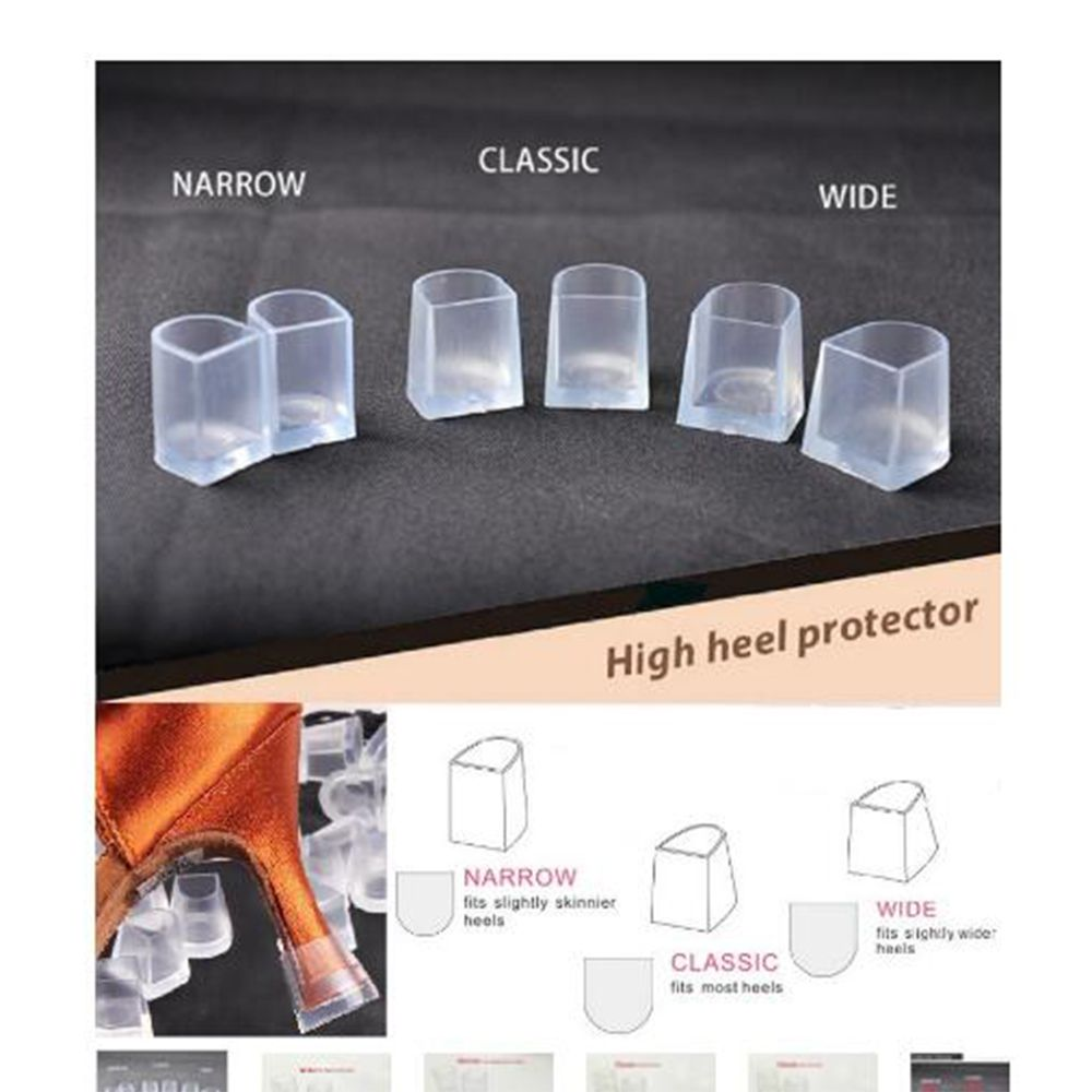 1 Pairs Fashion Transparent Women's High Heel Sets Of Protective Cover Heel Stoppers Shoes Covers Dance Shoes Cover Protector