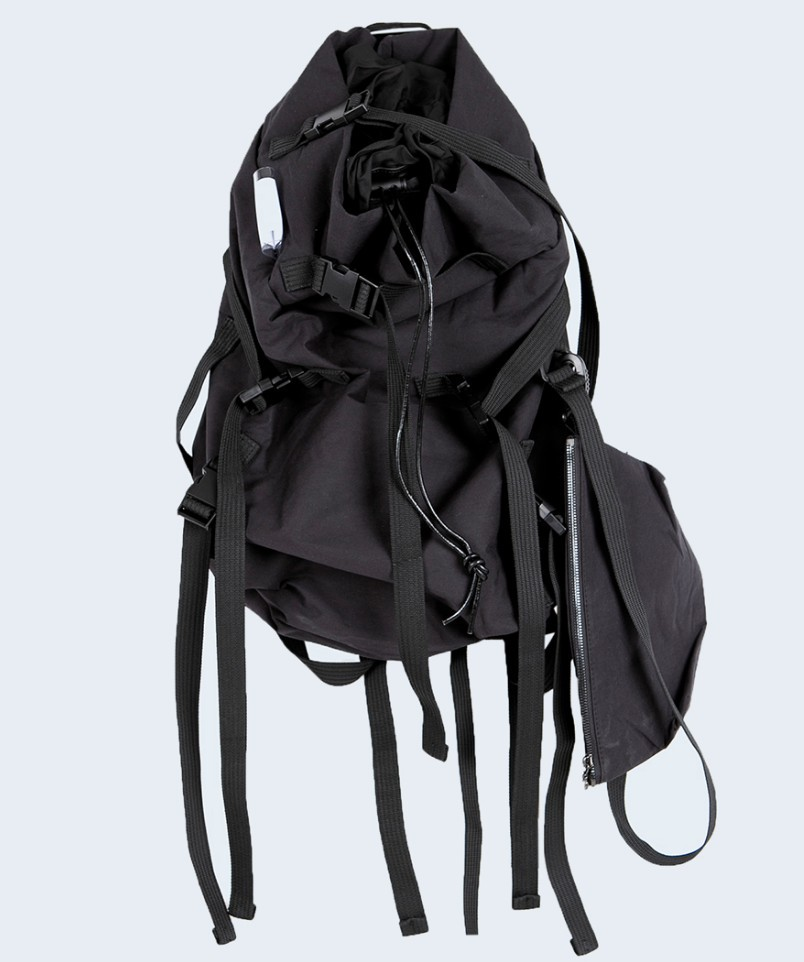 Ougger Big Hip-Hop Men's Travel Bags Backpack Black Polyester High Quality Latest Model Large Capacity Outdoor Sports Bag