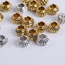 Золотистые/Серебристые бусины разделители для браслетов ожерелий