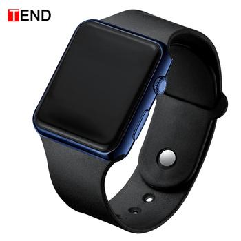 Męska LED zegarek cyfrowy mężczyźni silikon Sport elektroniczny zegarek wojskowy plac zegar zegarki Hodinky Reloj Hombre Relogio Masculino tanie i dobre opinie WYDAJĄ (手表) 24cm Stop Skóra wdrażania wiadro Nie wodoodporne Moda casual 38mm RUBBER Hardlex Kompletna kalendarz