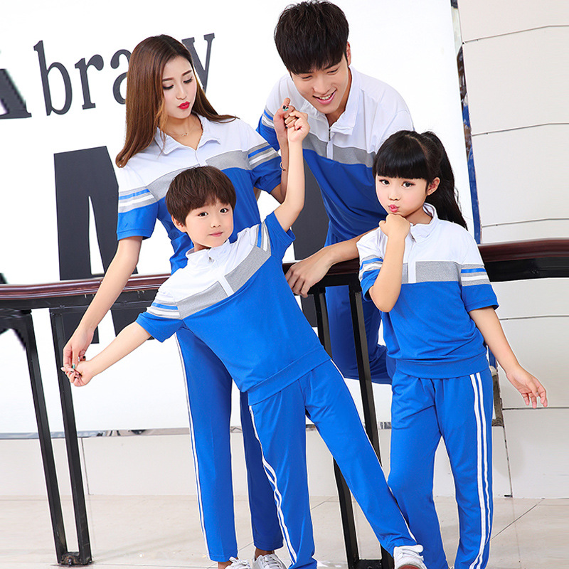 2019 Summer Sports Clothing Short Sleeve High School Young STUDENT'S School Uniform Set University Business Attire Men And Women
