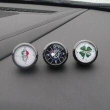 Reloj con decoración de coche, reloj de cuarzo electrónico para interiores de coches modificado para alfa romeo 159 147 156 giulietta 147 159 emblemas