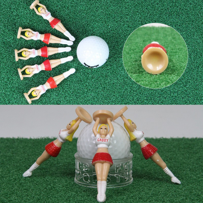 3pcs/set Plastic Golf Tees Golf Style Golf Balls Tee Cushion Top Lovely Sexy Bikini Lady Gift Newest Design Golf Tools