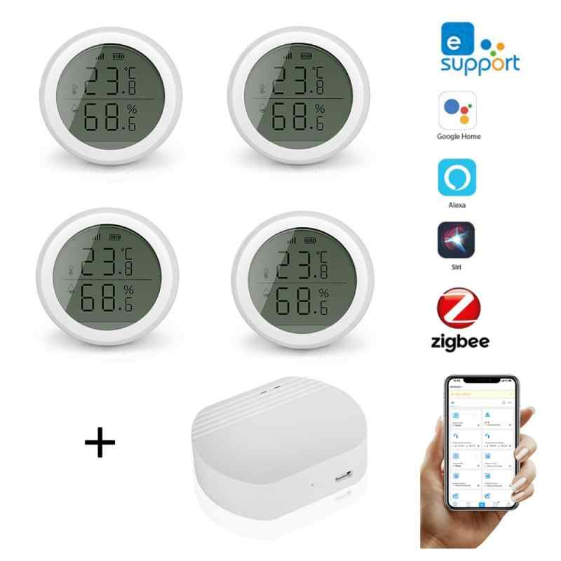 Ewelink ZigBee Smart Home Temperature And Humidity Sensor With LED Screen Works With Home Assistant And Tuya Zigbee Gateway