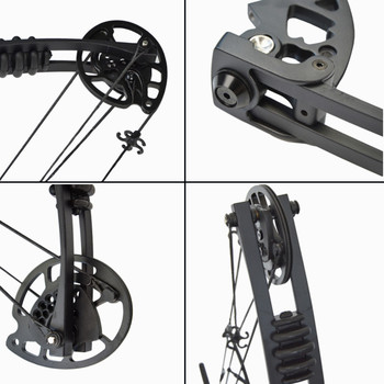 Archery 30-55lbs Compound Bow Kit Carbon Arrows  Adjustable 310FPS Adult Outdoor Hunting Shooting Right Hand with Accesssories 2