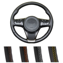 Artificial Leather Car Steering Cover Hand-Stitched Steering Wheel For Kia Sorento 2015 mewant black artificial leather car steering wheel cover for kia k5 optima 2014 2015