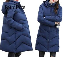 Rubilove Plus Size 4XL 5XL 6XL womens Winter Jackets Hooded Cotton Female Coat Women Long Parka Warm Outerwear Womens do