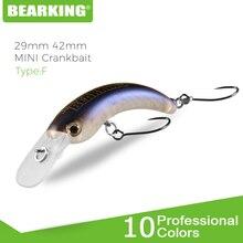 Bearking 29mm 42mm isca de pesca duro truta mini crankbait wobbler pesca equipamento de água doce minnow manivela artificial