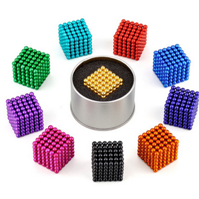 5mm 216pcs/set With Metal Box Neodymium Magnet Permanent NdFeB Super Strong Round Magnetic Magnets Disc Magic Balls Sphere Cube