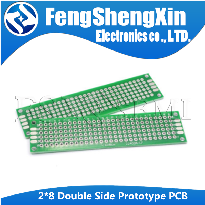 5pcs 2x8cm 2*8 Double Side Prototype PCB diy Universal Printed Circuit Board High quality fiberglass board