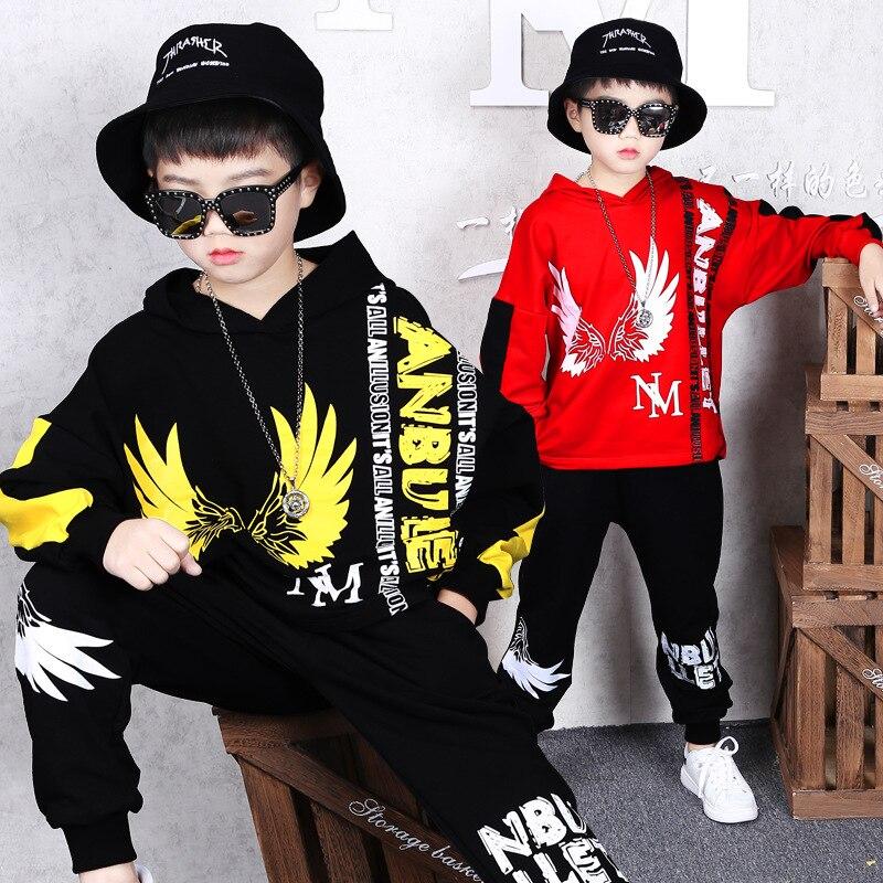 Baby Boys Clothing Set Children Boys Tracksuits Kids Sport Suits Boys Shirt + Pants 2pcs Set Kids Boys Hip-hop Dance Clothes