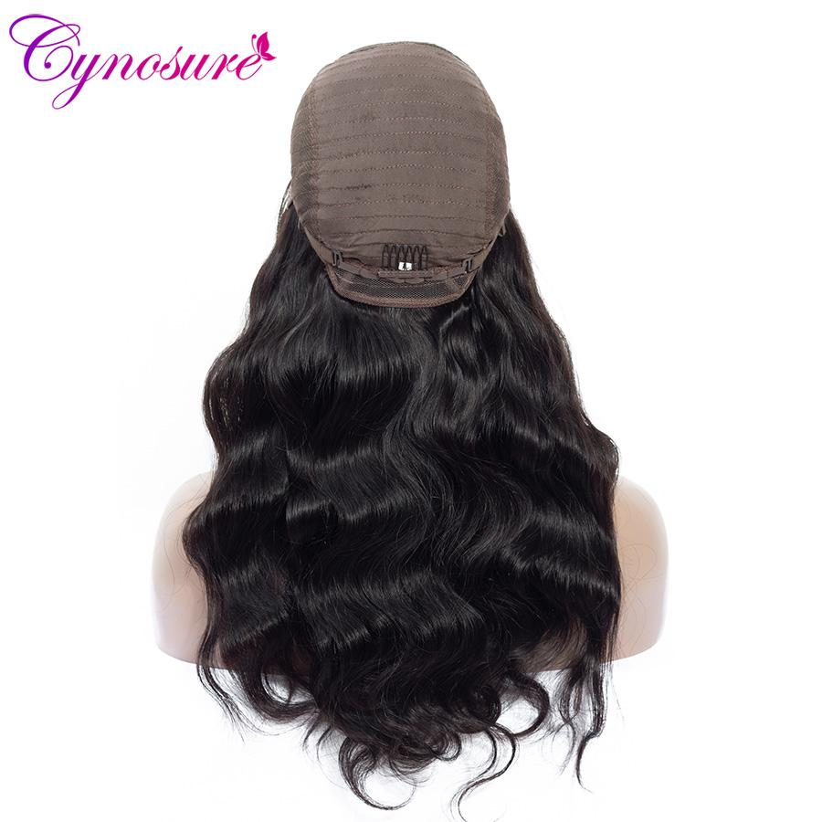 Hc3002ebffee946ee91b8297ee1d43bb1X Cynosure 4x4 Lace Front Human Hair Wigs Pre Plucked with Baby Hair For Black Woman Remy Brazilian Body Wave Lace Closure Wig