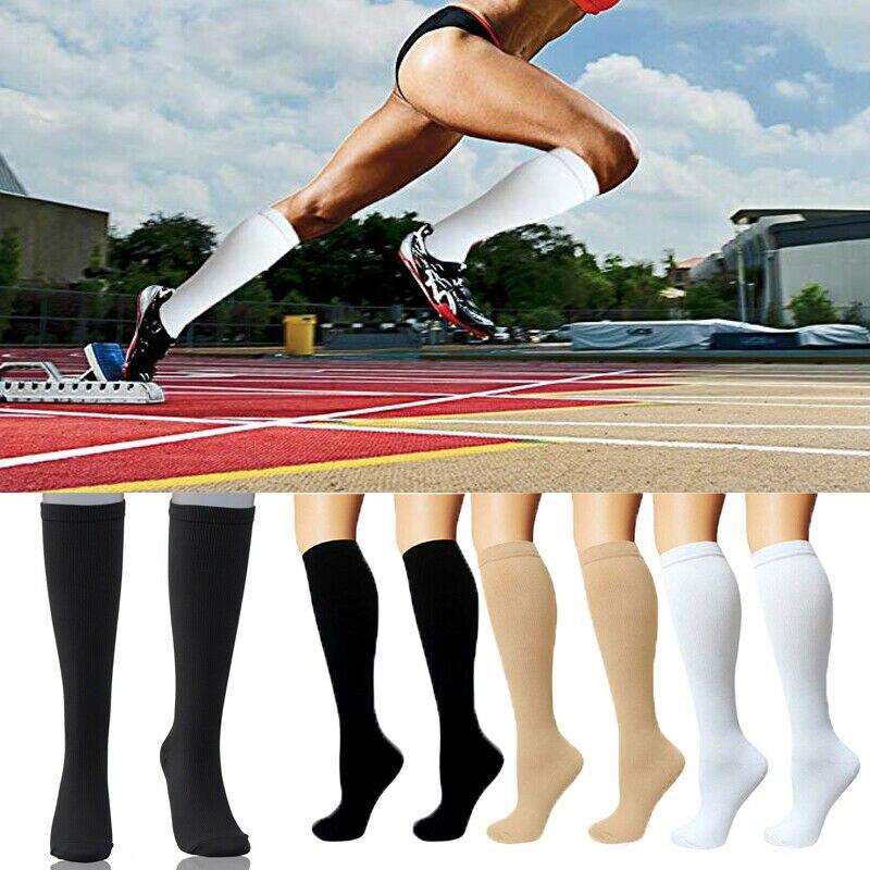 Compression Socks Support Stockings Travel Flight Socks (15-20 MmHg) Summer Breathable Elastic Unisex Sport Fitness Sockings