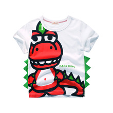 Brand 2019 Summer Cute Dinosaur Shirt Children Clothing for Kids Girl Short Sleeve Cartoon Print 3d T Shirts Tops Boys Clothes 80 120cm cute animal dinosaur children tops short sleeve t shirt summer kids boys clothing shirts tee casual baby boys clothes