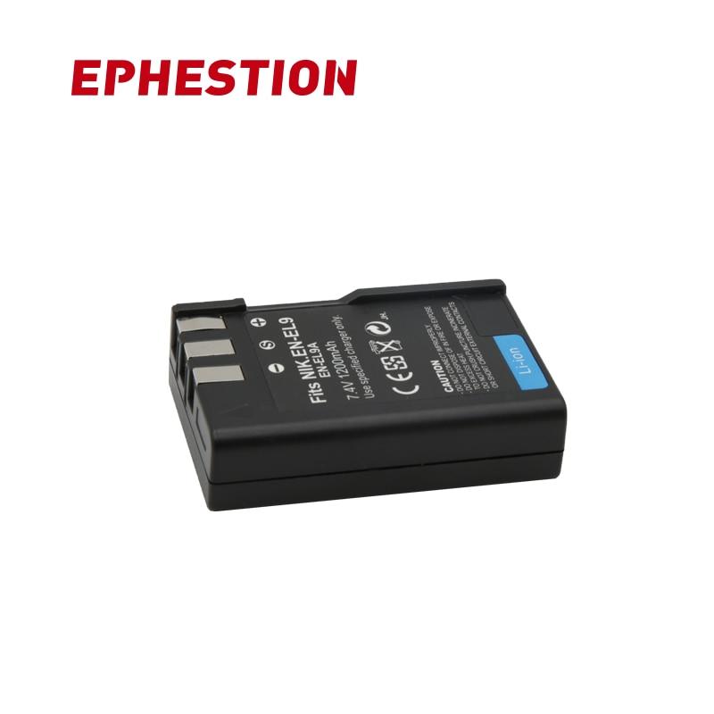 EPHESTION EN-EL9 es EL9 EN-EL9a es EL9a EL9a de batería de la cámara digital AKKU para Nikon EN-EL9a D40 D60 D40X D5000 D300 l15 baterías