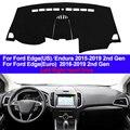 Авто внутренняя панель приборов крышка коврик для ковров накидка подушка 2 слоя для Ford Edge/Endura 2015 2016 2017 2018 2019 LHD RHD