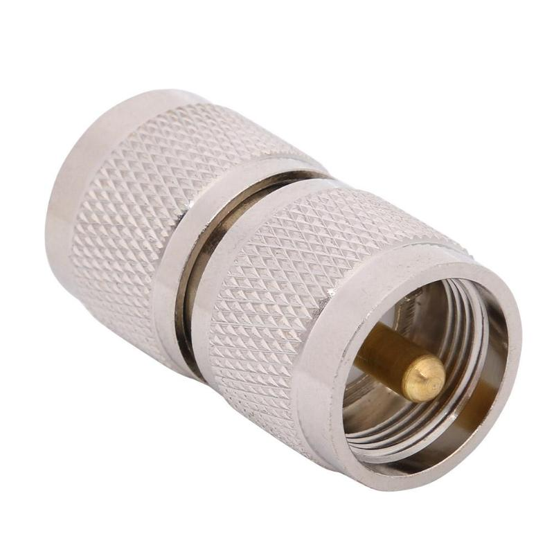 UHF PL259 SL16 Male To UHF PL-259 SL16 Male Plug RF Coaxial Wire Connector High Frequency Antenna Connection