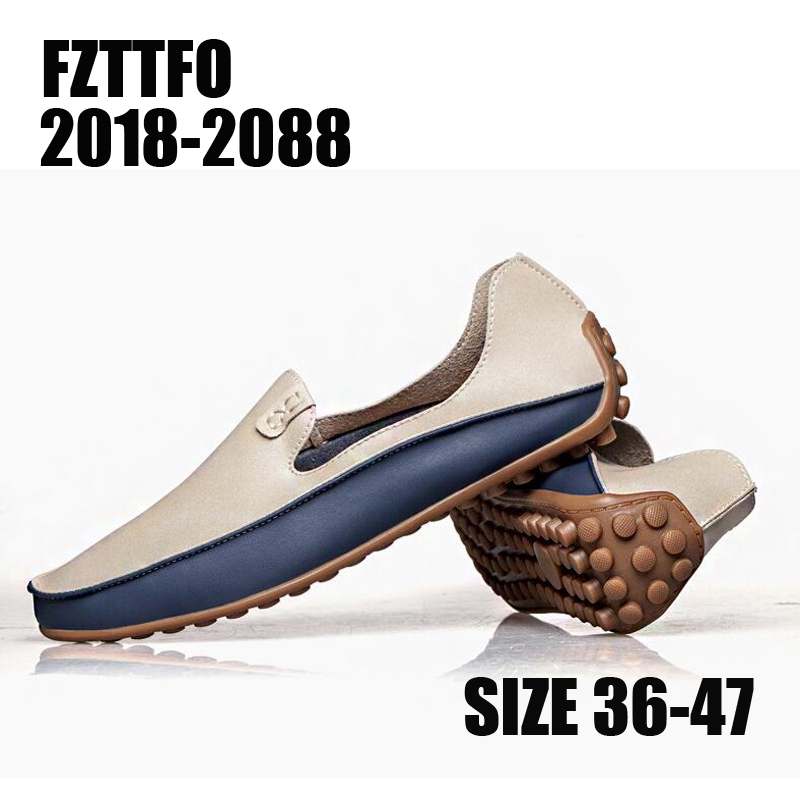 Men Soft Leather Casual Shoes,Brand Designer Plus Big Size Flats Loafers For Men Women 2020B012
