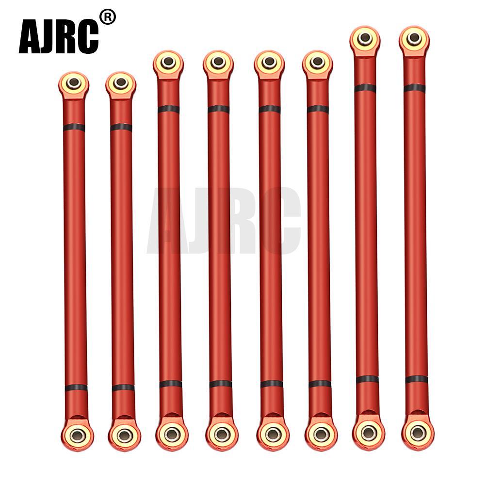 8pcs/lot Alloy Link Rod 313MM Wheelbase Suit For Axial SCX10 1/10 RC Crawler Car Parts