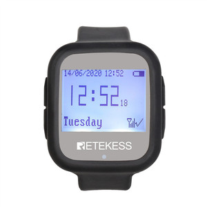 Image 2 - Retekess Restaurant Calling System TD106 2pcs Watch Receivers  Wireless Pager Cafe Office Restaurant Equipment Service F9453