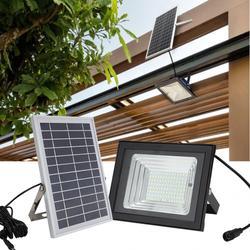 100 Вт светодиодный настенный светильник на солнечных батареях IP65 водонепроницаемый прожектор с дистанционным управлением с регулируемой я...