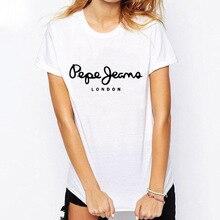 LODON Letter Couple Print Sleeve T Shirt Fashion Tops & Tees