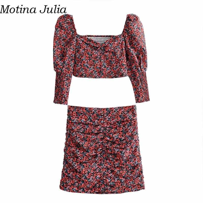 Motina Julia Sexy print korte blouse vrouwen Herfst casual cool elegante blouse vrouwelijke Zomer strand cute crop top blusas