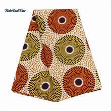 High Quality 6 yard African Fabric Polyester Wax Prints Ankara Fabric African  New binta real  Wax Sewing Fabric  PL537