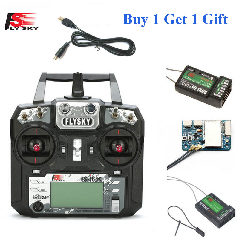 FLYSKY FS-i6X FS I6X 10CH 2.4GHz AFHDS 2A RC Transmitter With X6B IA6B A8S IA10B IA6 Receiver For RC FPV Racing Drone Retailbox