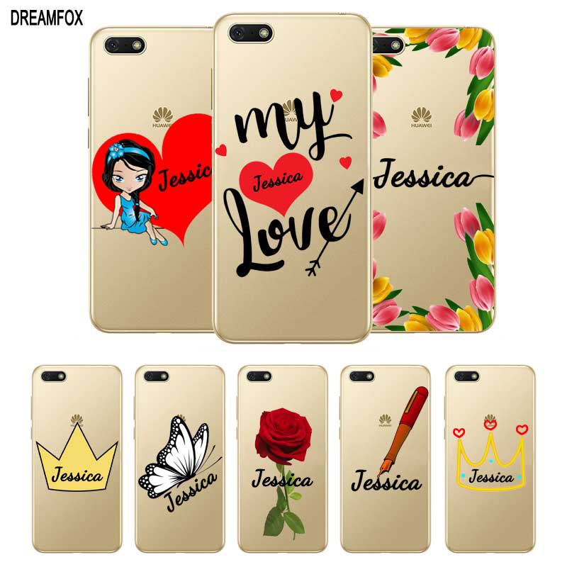Custom DIY Name Popular in the world Case Cover For Huawei P8 P9 P10 P20 P30 Lite Pro P Smart Plus 2017 2019 Coque Capa in Fitted Cases from Cellphones Telecommunications