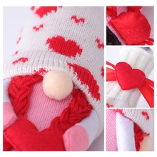 Valentine's Day Swedish Gnome Champagne Wine Bottle Cover Bag Family Party Decor L5YE