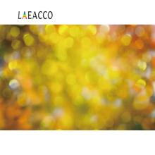 Laeacco Vinyl Backdrops For Photography Fantasy Polka Dots Light Bokeh Yellow Autumn Baby Newborn Love Portrait Photo Background